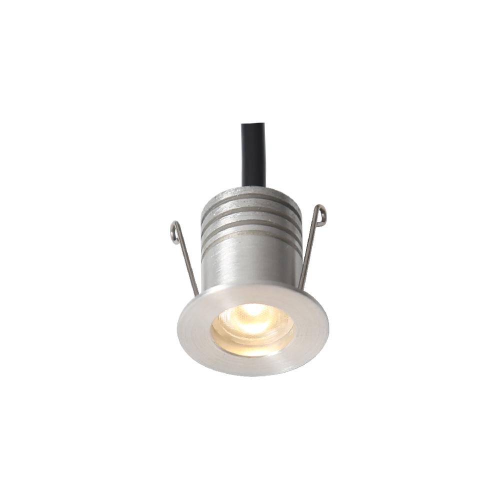 IP44 Small beam angle 12 degrees 1w led mini spot downlight-Metal color