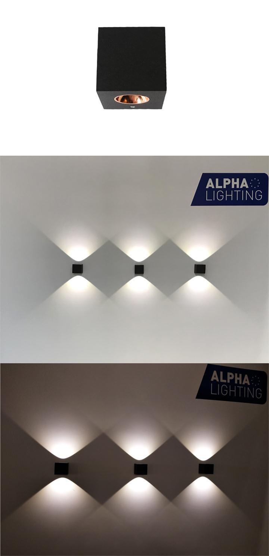Cube led wall light