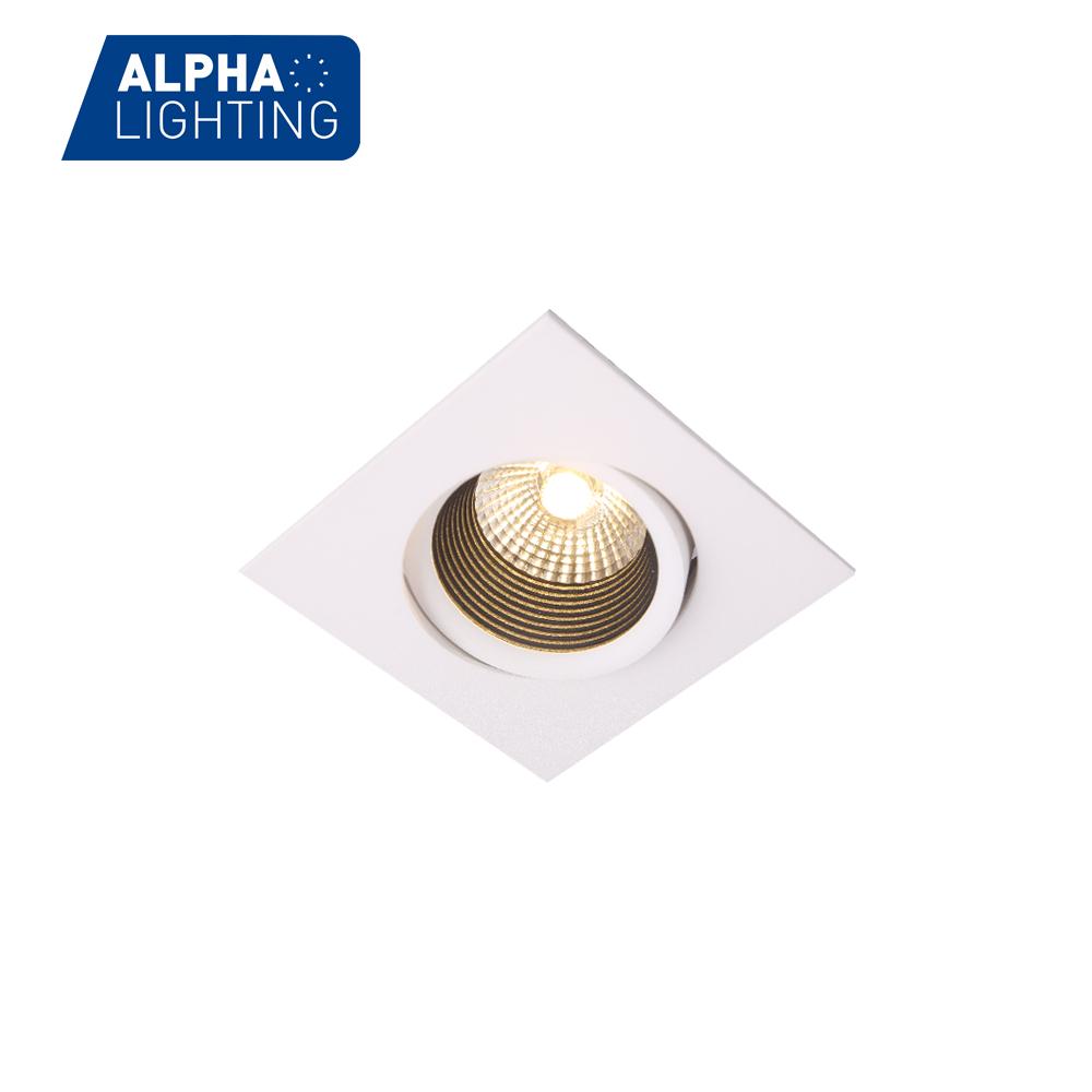 10W Adjustable Anti-glare living room deco LED Square Downlight