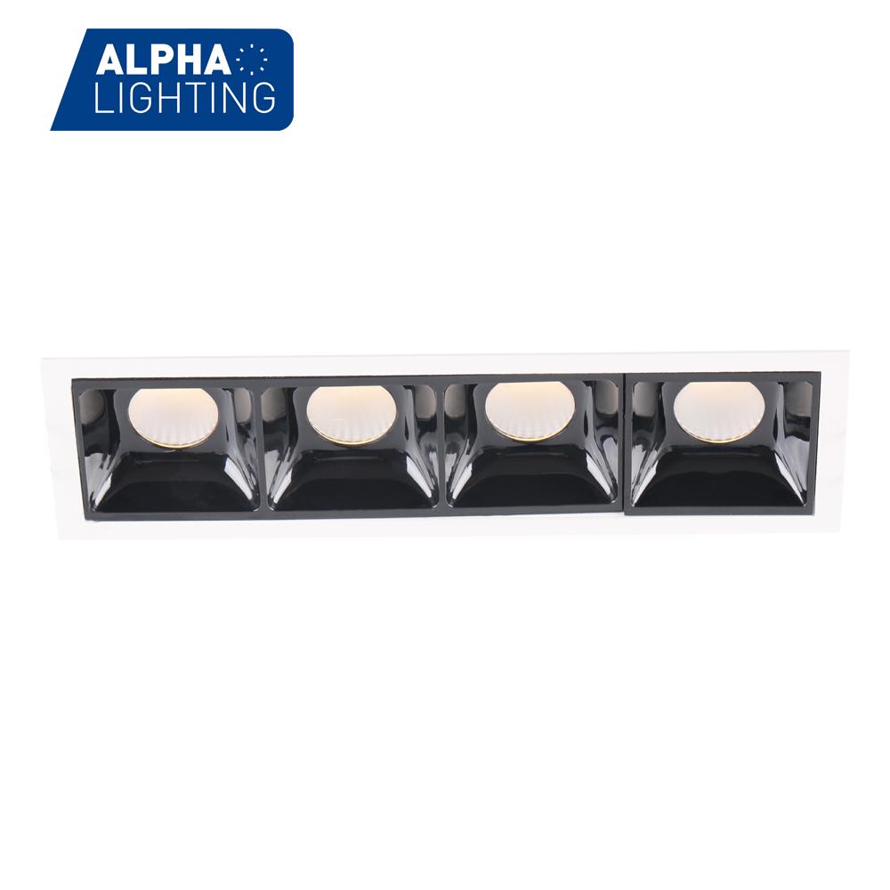 22W Aluminum Four Head High Brightness LED Ceiling Recessed Downlight