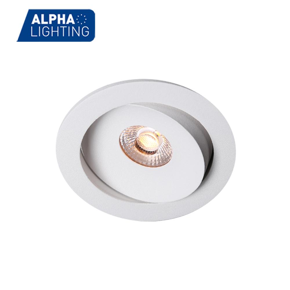 IP54 adjustable aluminum 7W tiltable mmable cob downlight -ALDL0108
