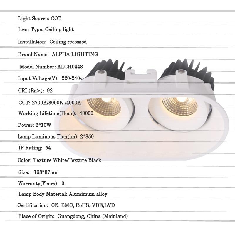 COB Indoor Ceiling Recessed LED light