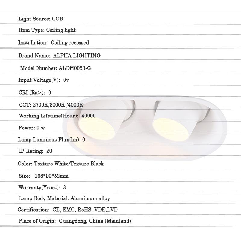 Recessed Downlight GU10 Fixture