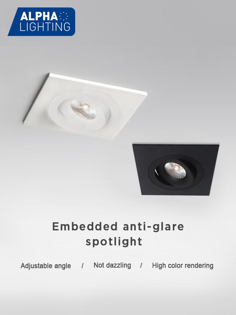 Modern square adjustable IP54 10w ceiling recessed led spot light