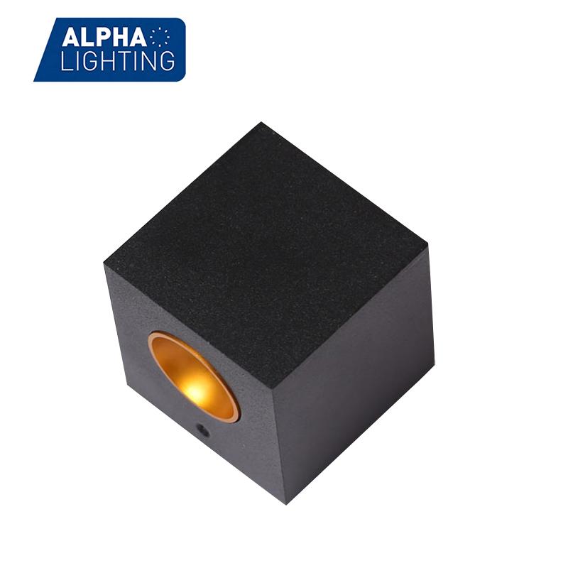 1W Square Aluminum Mini decorative led COB LED Wall Light